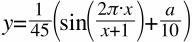 y=|_frac_{{1};{45}}({sin({|_frac_{{2π|_cdot_x};{x+1}}})+|_frac_{{a};{10}}})