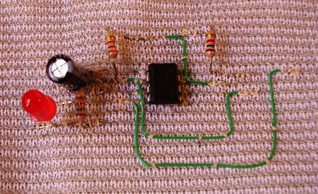 textile electronic circuit