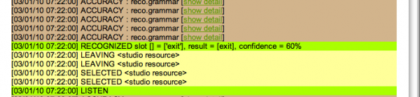 "Success! It falsely detects the word ""exit"", but doesn't quit."