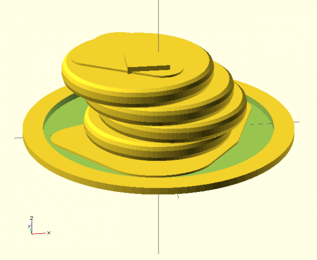 OpenSCAD_Pancakes_Loney_Model
