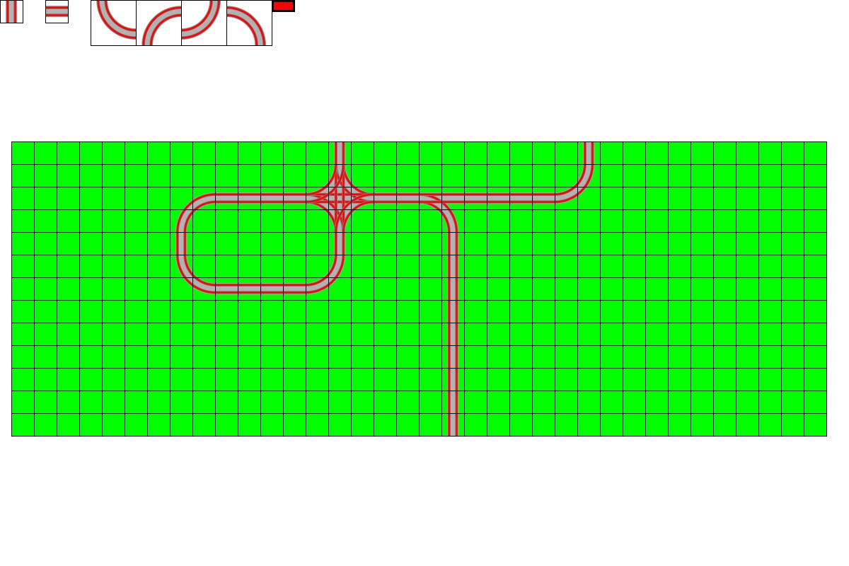 Screenshot depicting intersecting track.