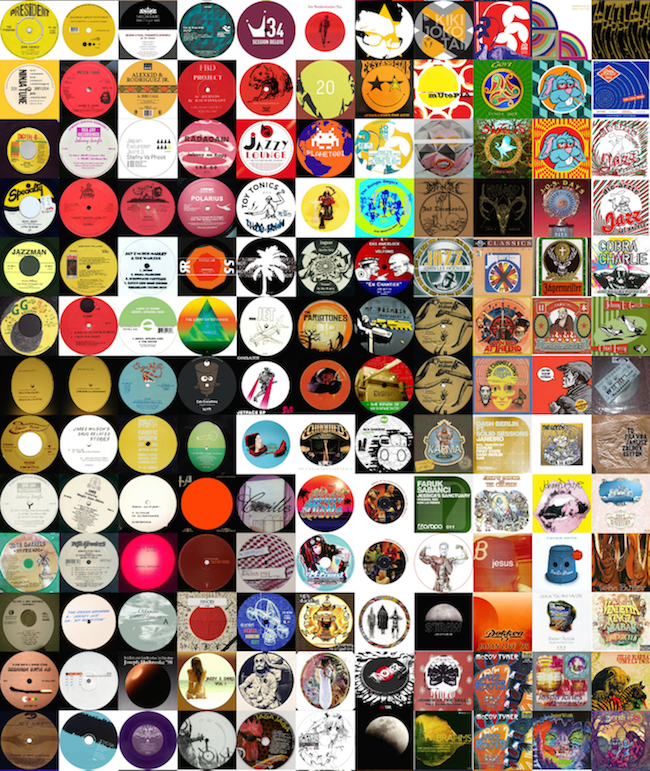 Zoomed in TSNE albums