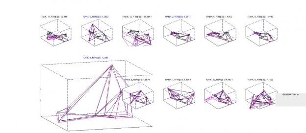 Genetic Algorithm – Optimal Trusses (work in progress)