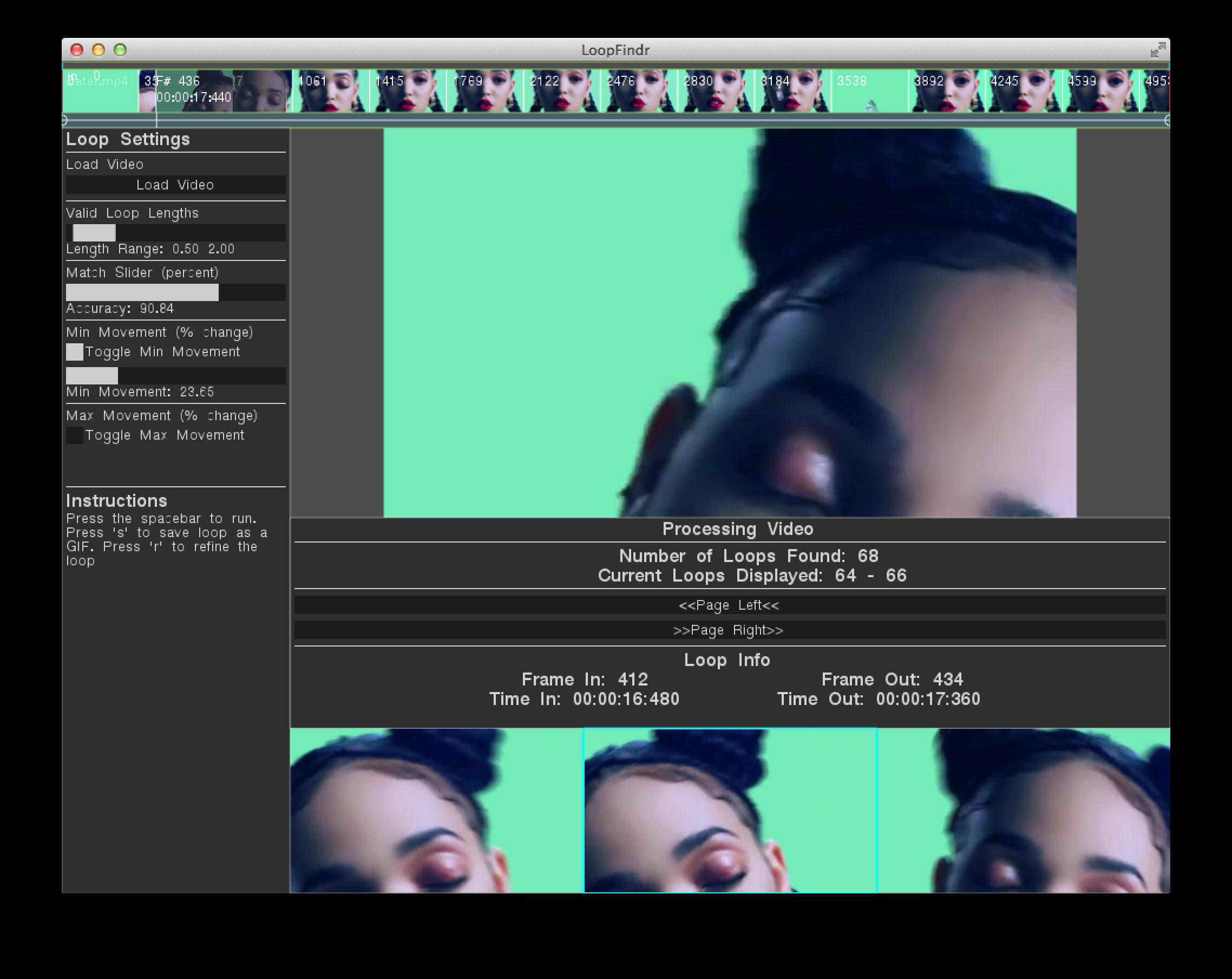 loopFindr v3 Screen 2
